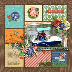 digital scrapbook layout by lingovise using Duck, Duck, Goose by Kristin Cronin-Barrow + Brook Magee | EZ Albums v.9 by Erica Zane | EZ Albums v.9 Stitches by Erica Zane