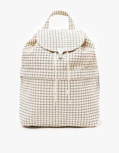Backpack in Natural Grid