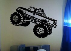 """$8.00    This monster truck decal is 12"""" tall and 17"""" wide.  We can adjust the size to fit what you need."""