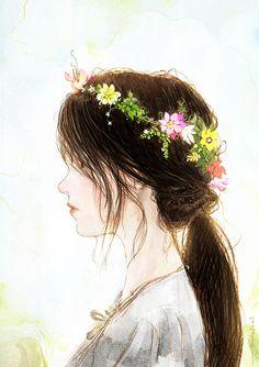 New nature girl painting 50 ideas Anime Art Girl, Manga Art, Chibi Manga, Art Sketches, Art Drawings, Cute Wallpapers, Amazing Art, Illustration Art, Beautiful