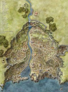 Iconic Town Map