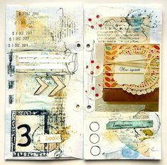 Travel Journal Ideas Creative Mixed Media Ideas For 2019 Art Journal Pages, Art Pages, Junk Journal, Art Journals, Moleskine, Mixed Media Journal, Mixed Media Art, Collage Book, Book Art