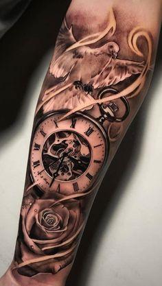 70 Photos of Men& Forearm Tattoos - Photos & Tattoos - Tattoo Idee . - 70 Photos of Men& Forearm Tattoos – Photos and Tattoos – Tattoo Idee … – Tattoo Ideen - Forarm Tattoos, Forearm Sleeve Tattoos, Best Sleeve Tattoos, Tattoo Sleeve Designs, Tattoo Designs Men, Forearm Tattoos For Guys, Tattos, Clock Tattoo Design, Forearm Tattoo Design