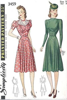 1940s Dress Pattern (Simplicity 1940) by scroobious_pip, via Flickr