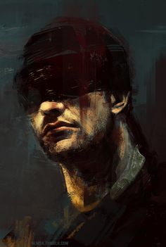 """nlmda: """"So yeah, I think I've joined the Daredevil madness. Matt Murdock is a precious duckling with cute socks. It was like super tricky to paint him right, with only his mouth and neckbeard jawline..."""