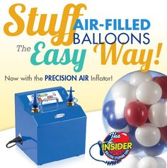 Now an Insider Balloon Stuffing Tool that works with Conwin's Precision Air Inflator! Learn more at ConwinOnline.com #balloons #stuffedballoons #balloondecor #iamconwin
