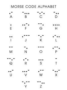 Morse Code Initial Pendant - Morse Code Initial tattoo idea More