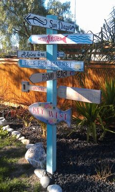 Directional sign...California coastal spots and other cool places!