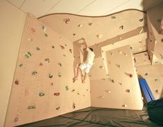 indoor residential climbing cave for kids and adults