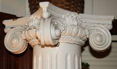 """Pair c1900 Colonial Revival architectural column s, fluted, oak capital,7't,13""""w #Unknown"""