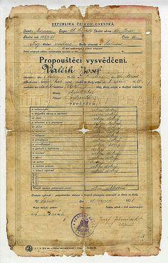 Discharge Certificate of Josef Valčík from 1939.