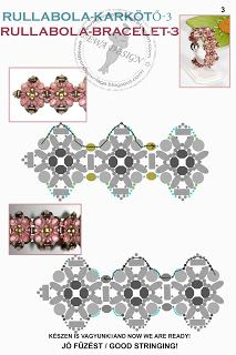 "Képtalálat a következőre: ""beaded diagrams"" Beaded Bracelets Tutorial, Beaded Bracelet Patterns, Seed Bead Patterns, Beading Patterns, Free Beading Tutorials, Super Duo Beads, Beading Techniques, Bijoux Diy, Beads And Wire"