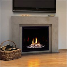 Make your gas fireplace look more realistic by adding fire wood accents!