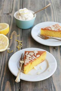 Yaourtíni - Greek yoghurt moist cake, flavoured with lemon