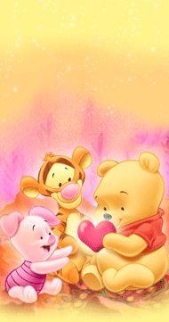 San Valentín Winnie Pooh Gif Animados Tarjetas Postales