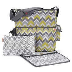 Skip Hop Flame duo diaper bag. Jonathan Adler. I love this bag also. And it seems like the type of bag a dude can carry as well and not be too embarrassed! (Note to self: must have kids soon!) - Liz