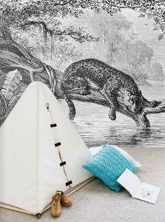 boys room - jaguar wallpaper