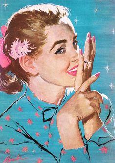 vintagegal: Illustration by Joe Bowler c. 1950s (via)