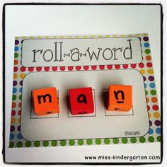 Literacy: create CVC words...real & nonsense. Free mats to download