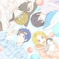 Ryugazaki Rei, Hazuki Nagisa, Nanase Haruka & Tachibana Makoto - Free!