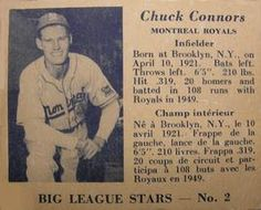1950 Big League Stars (V362) #2 Chuck Connors Front