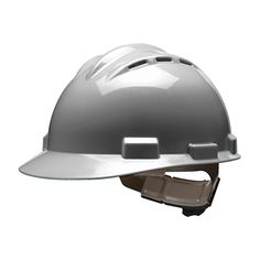Bullard 62DGR Standard Vented Hard Hat, Ratchet Suspension, Dove Grey:   Ideal for most applications. Bullard 62DGR Standard Vented Hard Hat - Ratchet Suspension - Dove Grey. eaturing a four-point suspension these hats are lightweight low profile and have a low center of gravity providing exceptional balance. Model S62 meets ANSI/ISEA Z89.1-2009 Class C requirements.