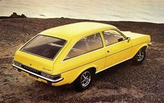1975 Vauxhall Magnum Estate Car. Yes .... they made an estate car version too ... and painted them bright yellow apparently. aaaagggghhhhh!!