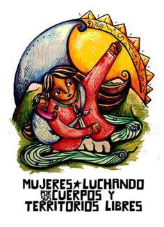 Mujer bonita es la que lucha. Zine, Latina Tattoo, Arte Latina, Free Mind, Political Art, Feminist Art, Ghost In The Shell, Power Girl, Street Art Graffiti