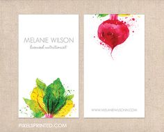nutritionist business cards thick glossy or by PixelsPrinted