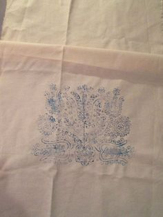Stamped Pillowcase Wall Decoration for Hand Embroidery Hungarian TULIP Theme #HungarianFolkArt