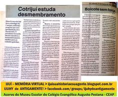 IJUÍ - RS - Memória Virtual: Desmembramento da Regional da COTRIJUÍ de Mato Gro...