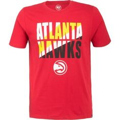 '47 Atlanta Hawks Splitter T-shirt (Red, Size X Large) - Pro Licensed Product, Nba Tees at Academy Sports