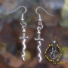 Sun Sword Earrings