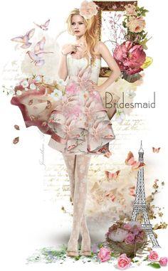 """BRIDESMAID."" by eva-lara ❤ liked on Polyvore"