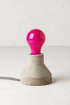 Pink Ceramic Light Bulb