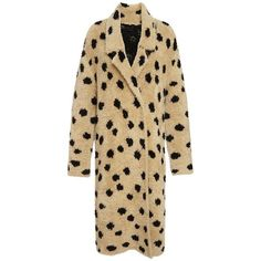 Thakoon Addition Ocelot Jacquard Coat (€785) ❤ liked on Polyvore featuring outerwear, coats, coats & jackets, thakoon addition, jacquard coat, polka dot coat and brown coat