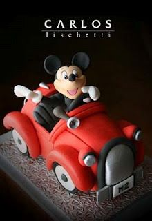 Mickey Mouse in Car