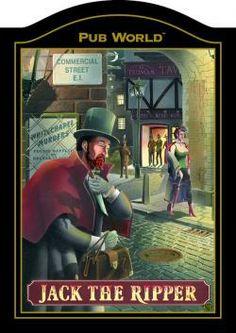 JACK THE RIPPER English Pub Sign | Inn Tavern | Home Bar