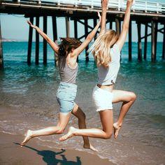 «#brandyusa Donilyn Tank and Lea Denim Skirt / Sammy Girl Power Top Low-Rise Denim Shorts»