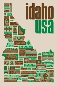 Idaho, by Aaron Draplin   DDC 2011™