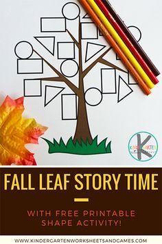 Shapes Worksheet Kindergarten, Kindergarten Freebies, Shapes Worksheets, Kindergarten Lessons, Seasons Worksheets, Circle Time Activities, Autumn Activities For Kids, Fall Preschool, Preschool Activities