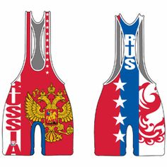 Russia Federation Wrestling Singlet