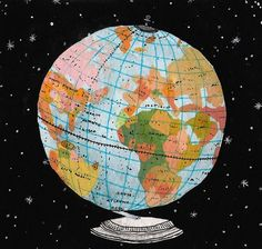 Globe by Becca Stadtlander — On the Wall