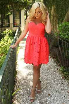 Baby Come Back Dress: Coral #shophopes