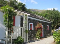Airbnb Cabin in Castletown-Bearhaven, Ireland. $66 USD per night.     Unique, relaxing and private charming cottage with secluded garden with own parking. Spectacular views of the sea.  Outside the door is the wonderful walk along the famous Hungry Hill trail with it's majestic views of mountains and sea.