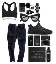 """///"" by mimiih on Polyvore featuring Calvin Klein, adidas, Illesteva, October's Very Own, Tom Ford, Koh Gen Do, NARS Cosmetics, Acne Studios, Urbanears and Marc by Marc Jacobs"