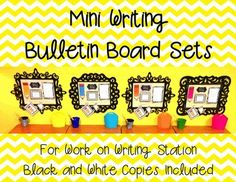 Mini Writing Bulletin Boards....love this idea! May do this next year
