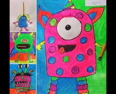 Monsters with broken pencil Art project