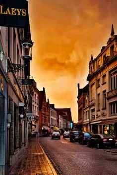 One Evening in Bruges, Belgium