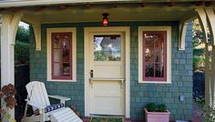 An inviting porch for a darling small home.
